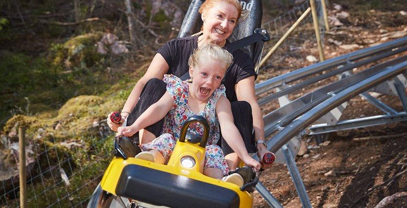 68 000 har åkt Isabergs nya rodelbana sedan premiären på midsommarafton. Foto: Isaberg