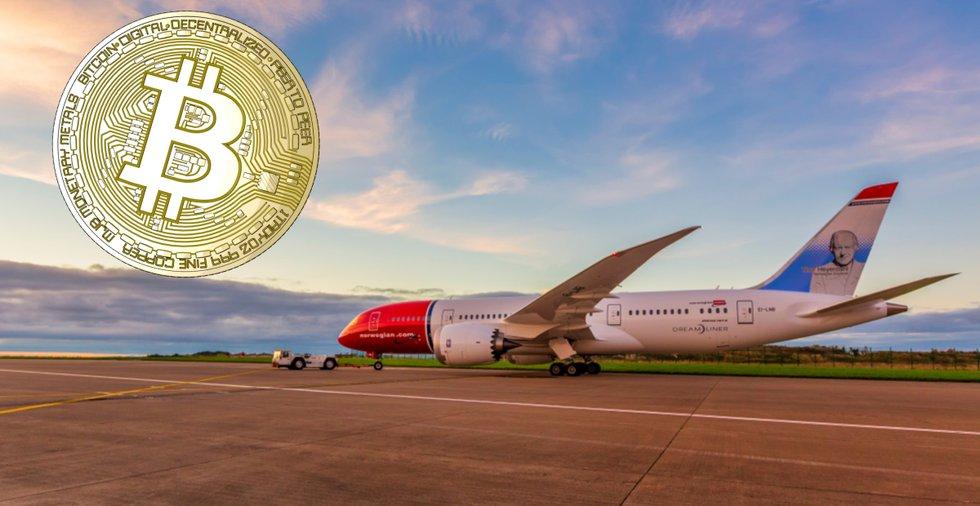 Att betala Norwegian-biljetter med kryptovaluta kan bli möjligt redan i vår