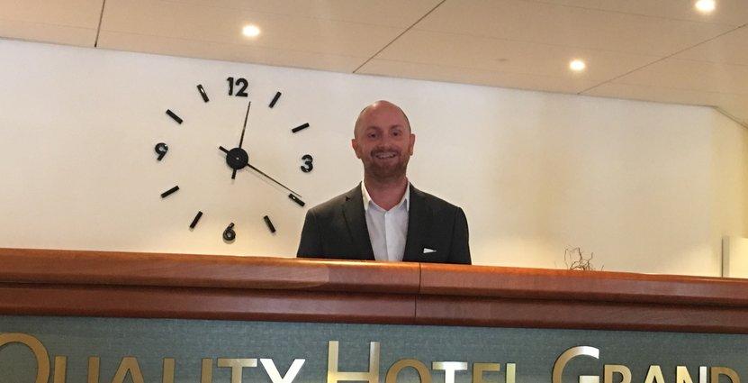 Johan Wallenstein är ny hotelldirektör på Quality Hotel Grand i Borås. Foto: Privat