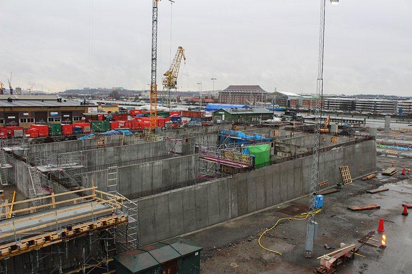 Brorampen på Hisingssidan (bild tagen i januari 2018). Foto: Trafik Göteborg