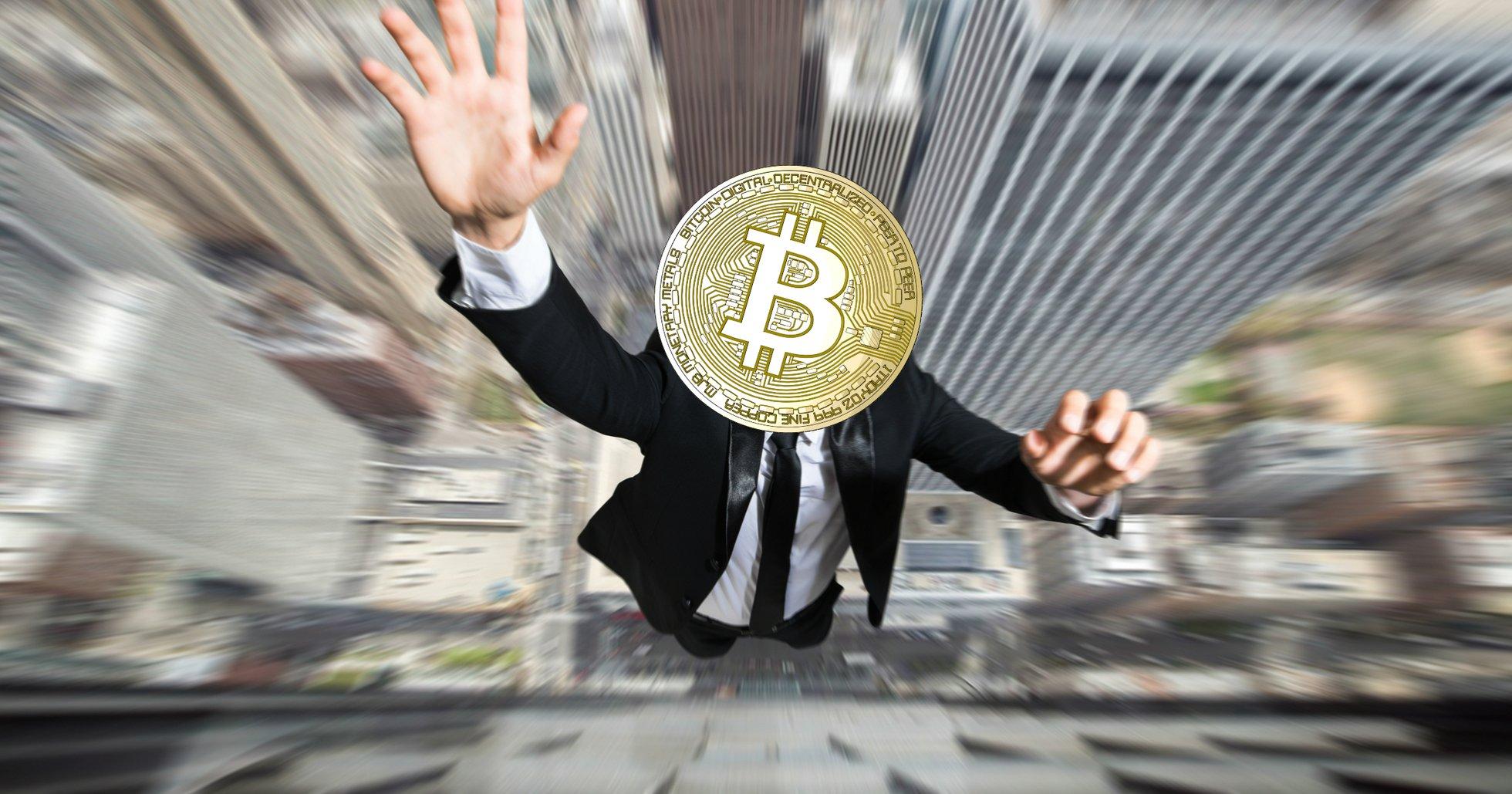 Bitcoinpriset rasar nästan 5 procent.