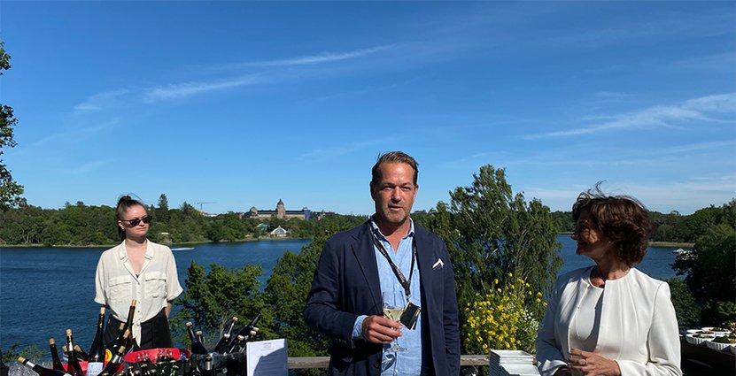 Carl Palmlund, operativ chef på Royal Park Sthlm och Nina Hornewall, kommersiell direktör på Apollo. Foto: Besöksliv