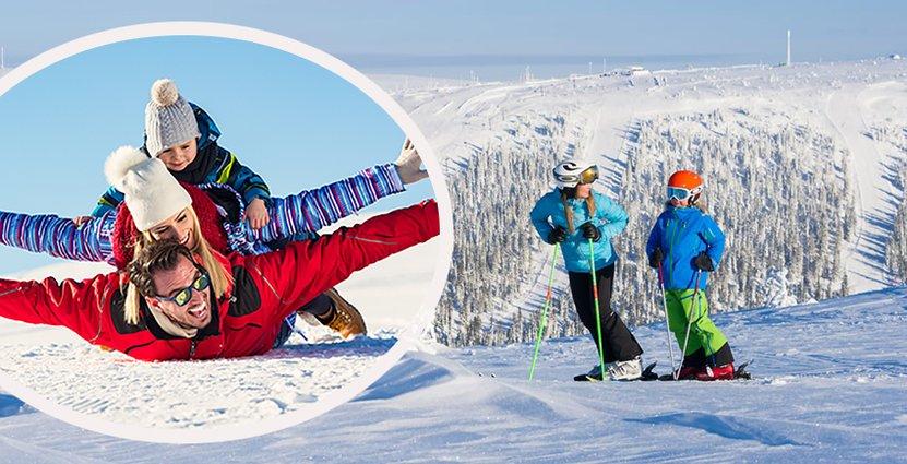 Jul, nyår och trettonhelgen lockade rekordmånga till fjällen.  Foto: Skistar/Ola Matsson/Hemavan