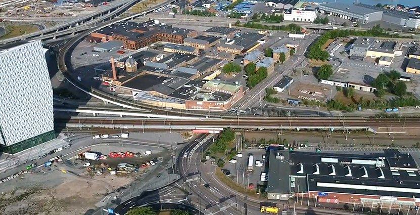 Gamlestaden är ett av Göteborgs hetaste områden. Här ska ett<br />  nytt hotell stå klart om två år. Foto: Göteborgs Stad