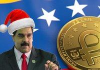 Venezuelas kryptojulklapp: Ger alla pensionärer en halv petro