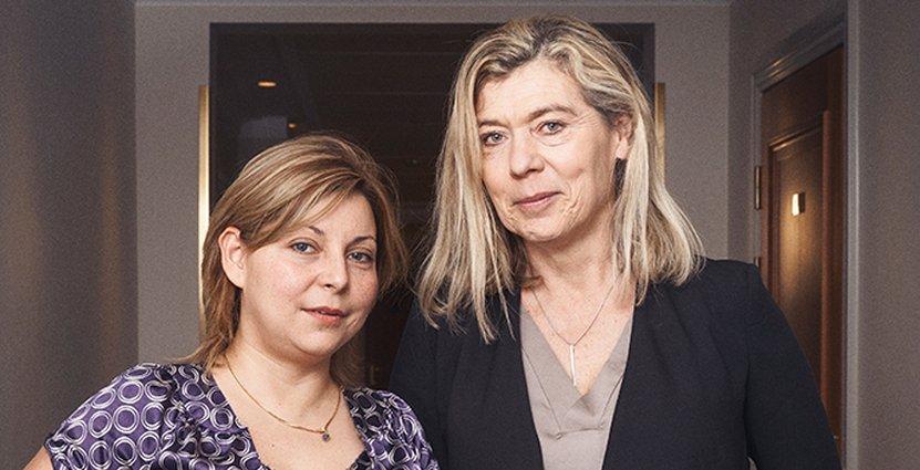 Nyutexaminerade. Carina Ringnell (till höger) fick nytt jobb som platschef för Krusenberg Herrgård, Alexandra Palacios driver hotell i Colombia.