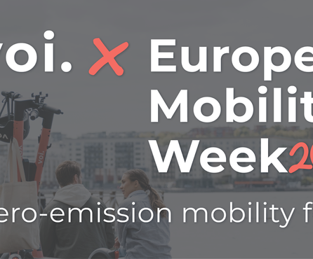 Voi celebrates European Mobility Week 2020 – Zero-Emission Mobility for all