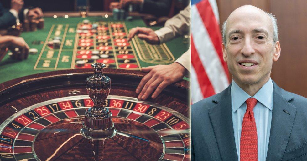 SEC:s ordförande: Stablecoins är som marker på ett casino