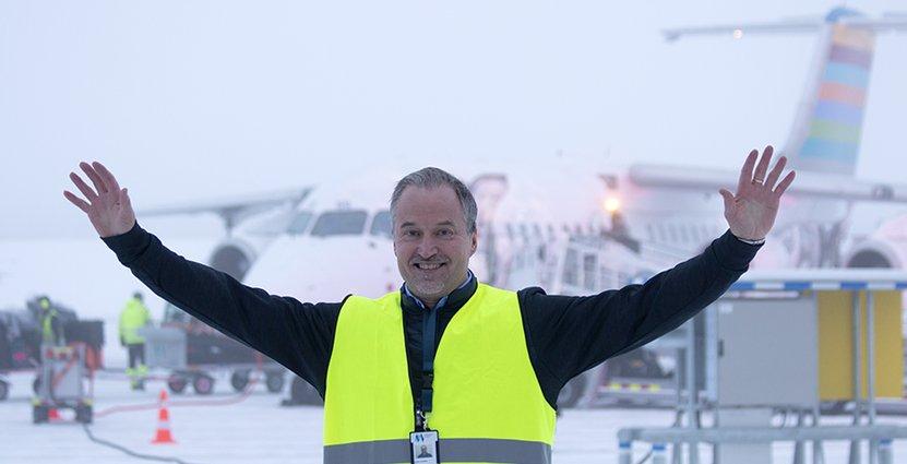 Scandinavian Mountains Airport vd Gunnar Lenman är nöjd med jul- och nyårshelgen, trots att Londonflygen landar i Oslo.