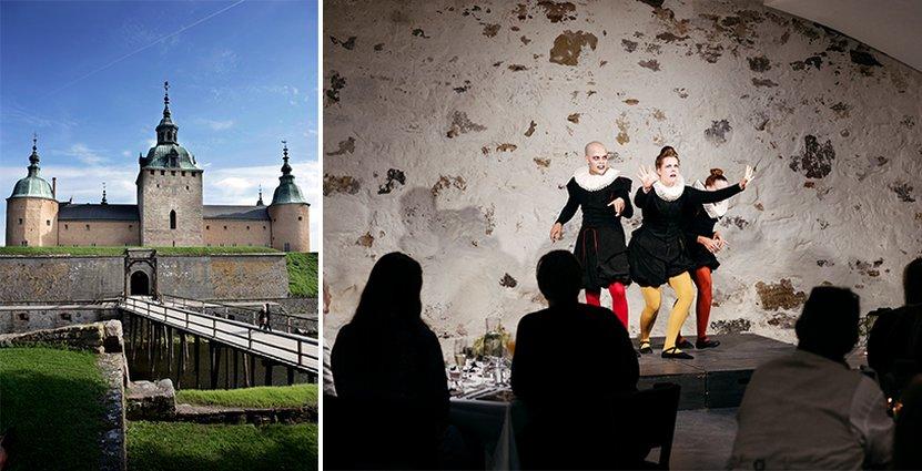 Kalmar slott håller i höst de teatermiddagar som sköts upp förra året.   Foto: Christian Alsing och Adam Humlesol