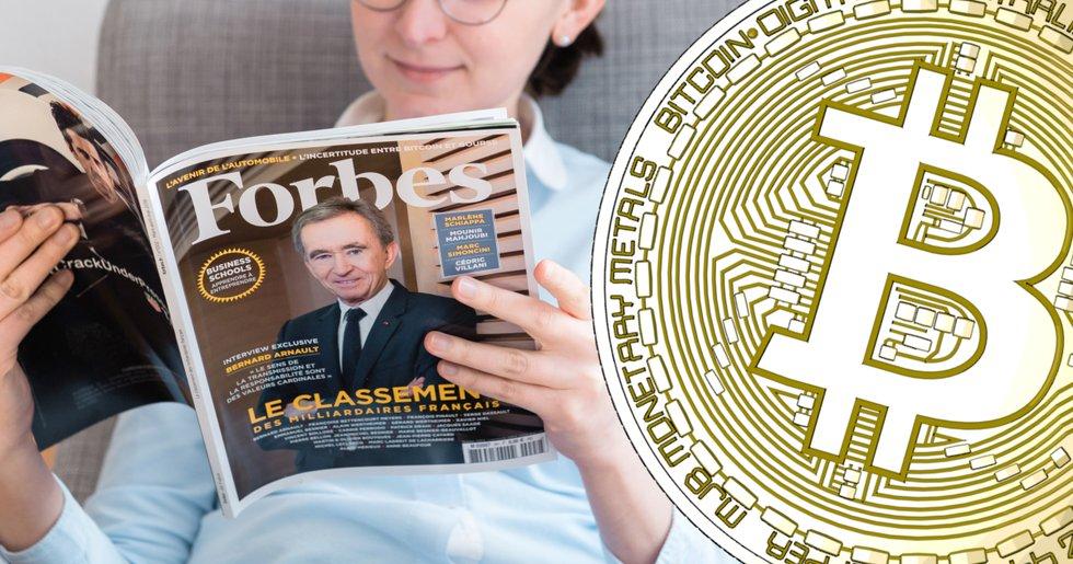 Bara 4 kryptopersoner på Forbes lista över världens rikaste människor.