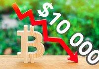 Bitcoin sjunker under 10 000 dollar – har tappat över sex procent senaste dygnet