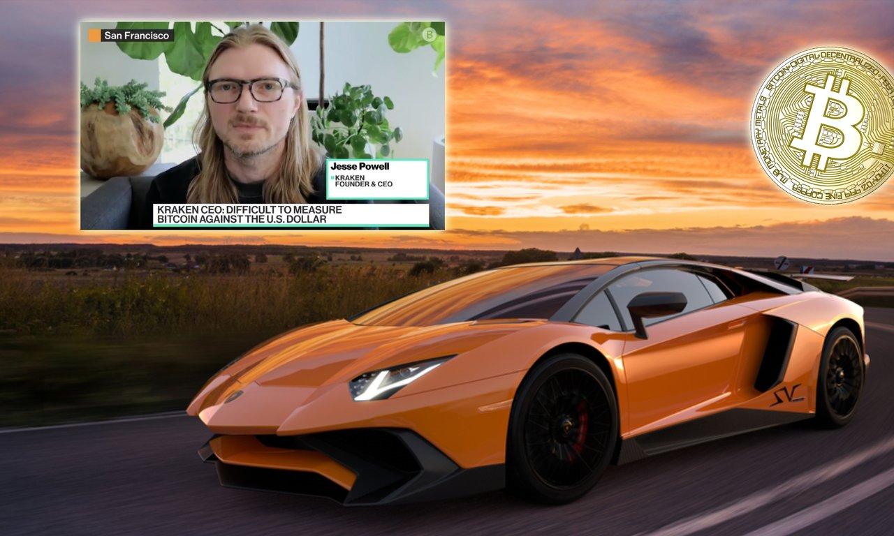 Kryptobörsen Krakens vd: Bitcoinpriset når en Lamborghini vid årets slut