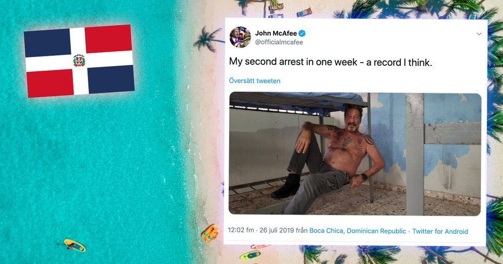 John McAfee arrested – for the second time this week