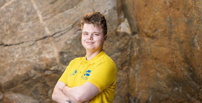 Kocken William Brittsjö känner sig väl förberedd men lite<br />  nervös inför Yrkes-VM i Kazan. Foto: Worldskills