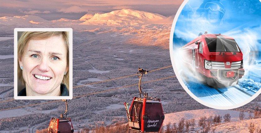 Sofi Marberg på Hemavan Tärnaby hoppas nå fler typer av besökare med det nya Fjälltåget. Foto: Visit Hemavan Tärnaby