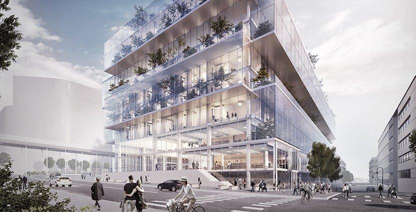 När Scandic Platinan står färdigt 2020 kommer det att sticka ut: fasaden består av stora glaskuber som klättrar på varandra.