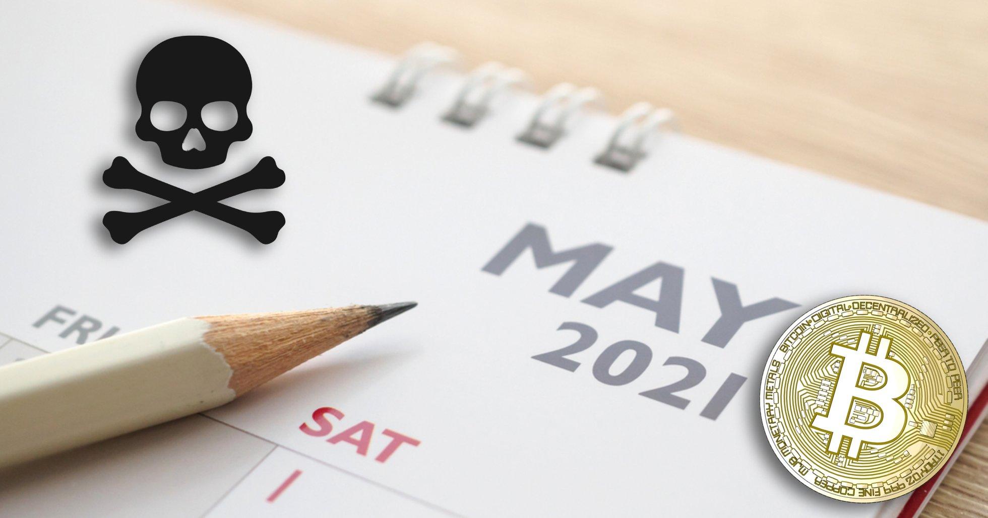 Maj 2021 var den tredje sämsta månaden för bitcoinpriset någonsin
