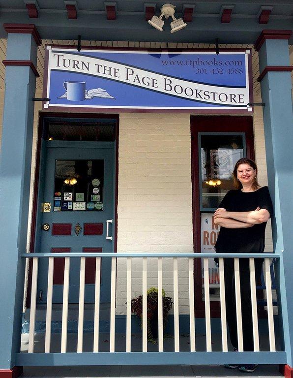 Nora Roberts bokhandel i Boonsboro, USA. Foto: privat