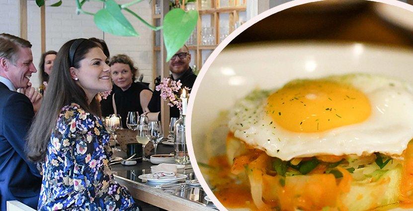 Nöjda middagsgäster. Kronprinsessan Victoria var en av de första gästerna att besöka Paul Svenssons nya popup-krog med mat på svinn-råvaror.  Foto: Lorenzo Guida.