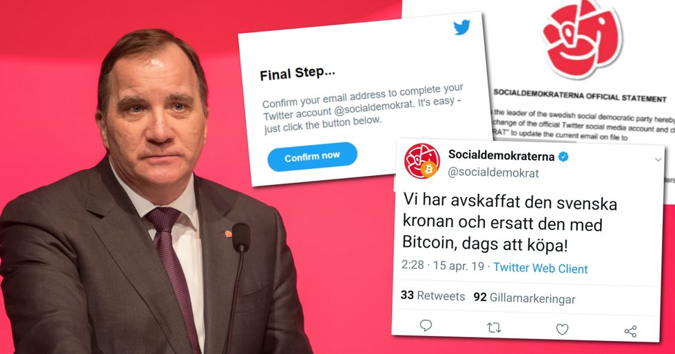 Swedish government party got their Twitter account bitcoin-hijacked – now the hackers reveal how and why they did it.