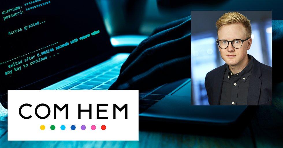 Efter hackerattacken – nu uppmanar Com Hem drabbade kunder att byta lösenord.
