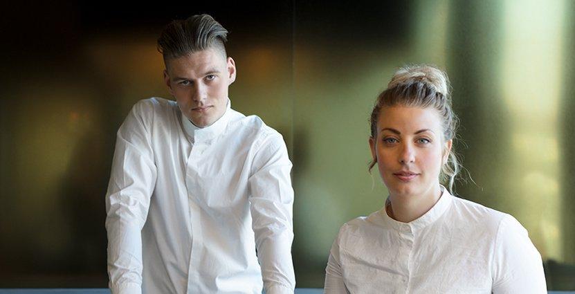Albin Edberg har huvudrollen som kock på Unn, Frida Ronge har skapat konceptet.
