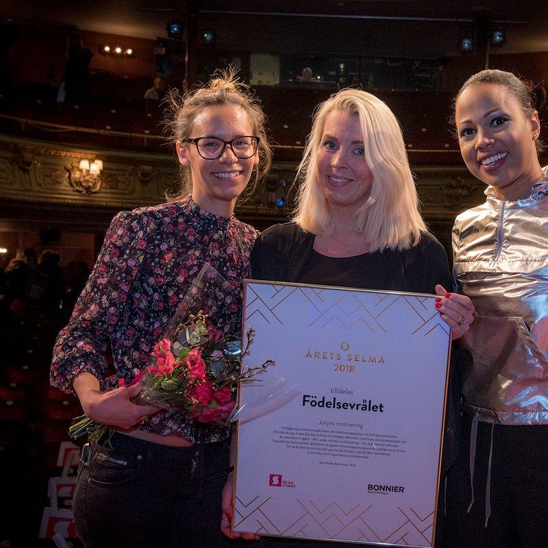 Vinnare av Årets Selma 2018 är Födelsevrålet