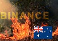 Kryptobörs skänker en miljon dollar till insatser mot bränderna i Australien