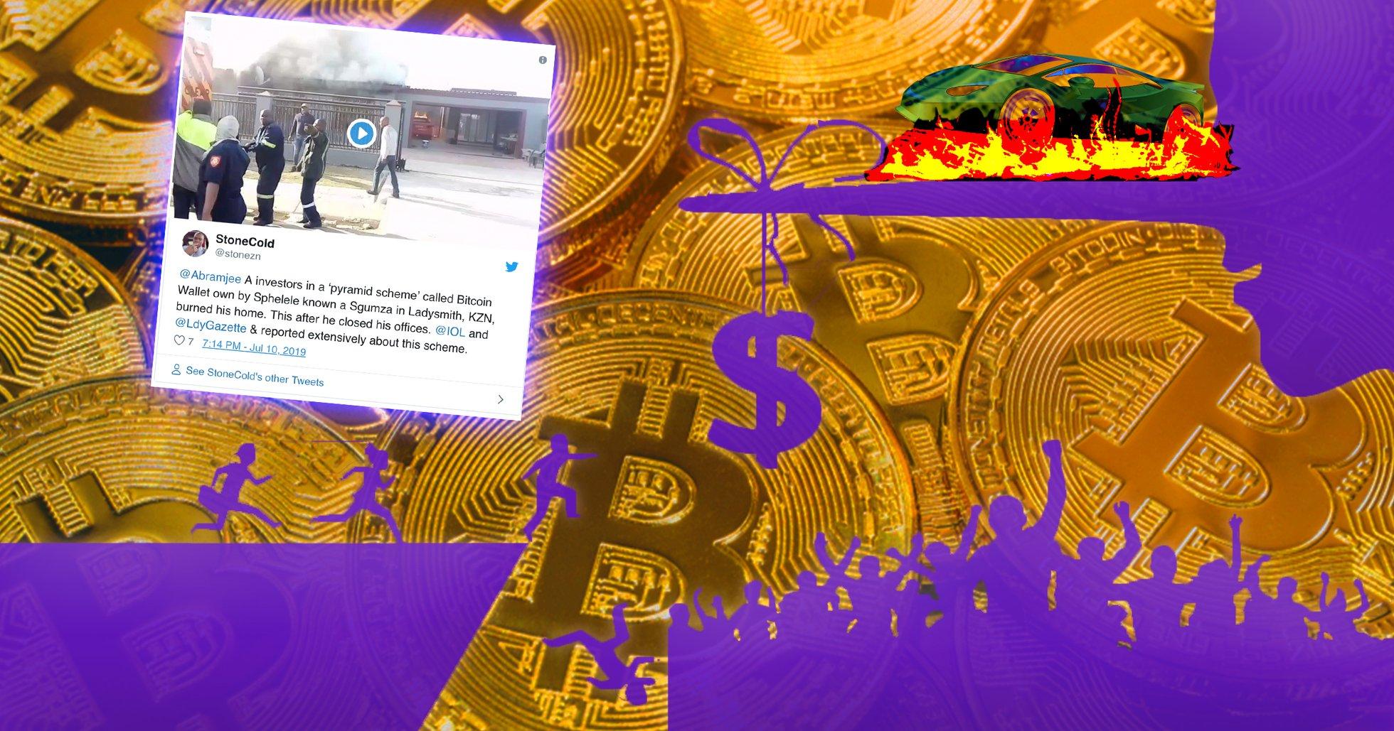 Här bränner arga investerare upp kryptobedragares hus