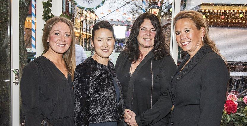 Karin Stjerna, Maria Krona och Kristin Boman, alla från Bomans i Trosa, med Mia Spendrup, Loka Brunn.