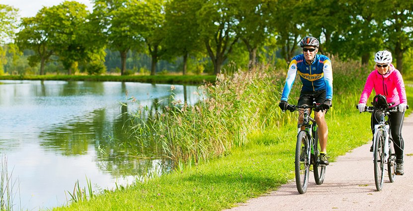 2020 är målet att den nya cykelleden längs Göta kanal ska stå klar. Foto: Göta kanalbolag