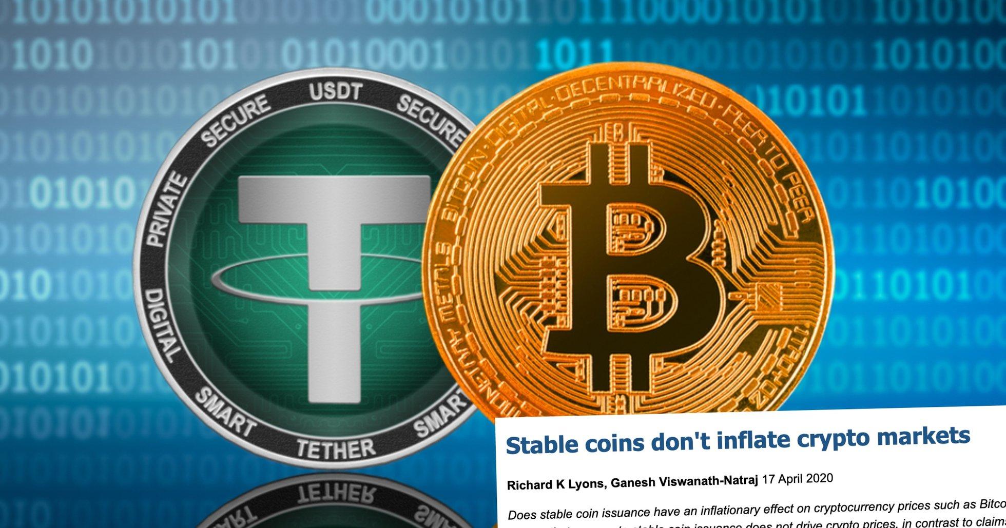 Ny rapport avslöjar: Att tether skulle driva upp bitcoinpriset är en myt