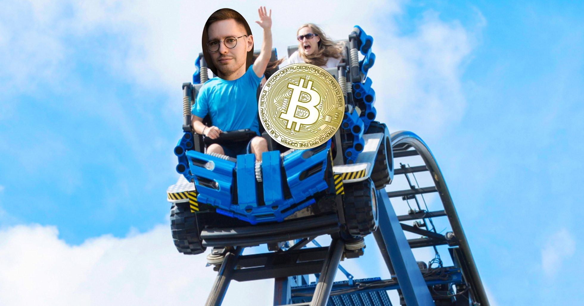 Bitcoinprisets galna timme: Tappade 7 000 dollar på femton minuter