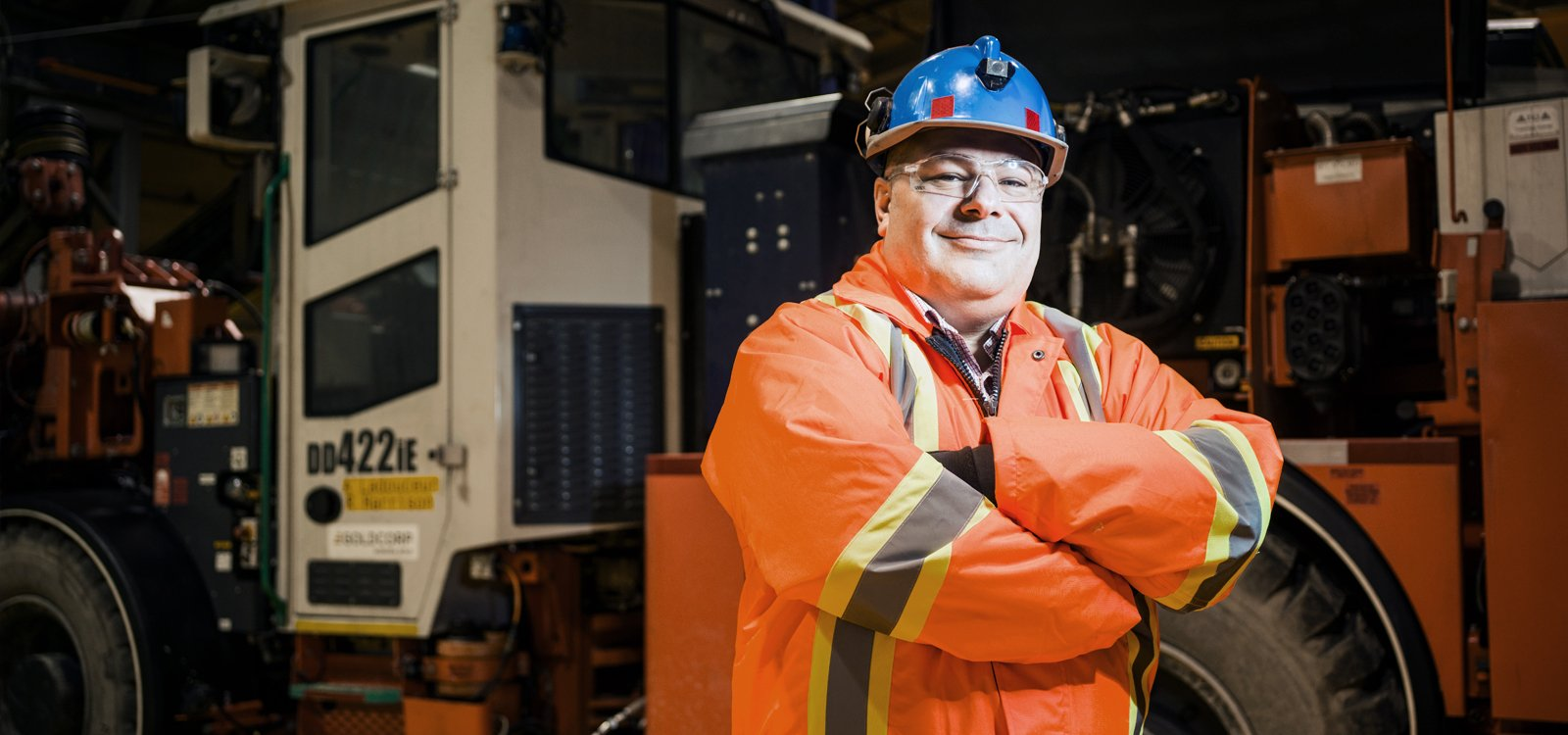 "Luc Joncas, project manager at Borden Lake, calls Sandvik DD422iE ""the star of the fleet"" at the project being developed as the world's first all-electric underground mine."