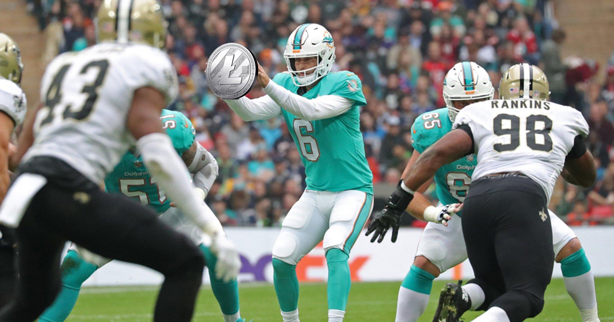 Amerikanska fotbollslaget Miami Dolphins gör litecoin till sin officiella kryptovaluta