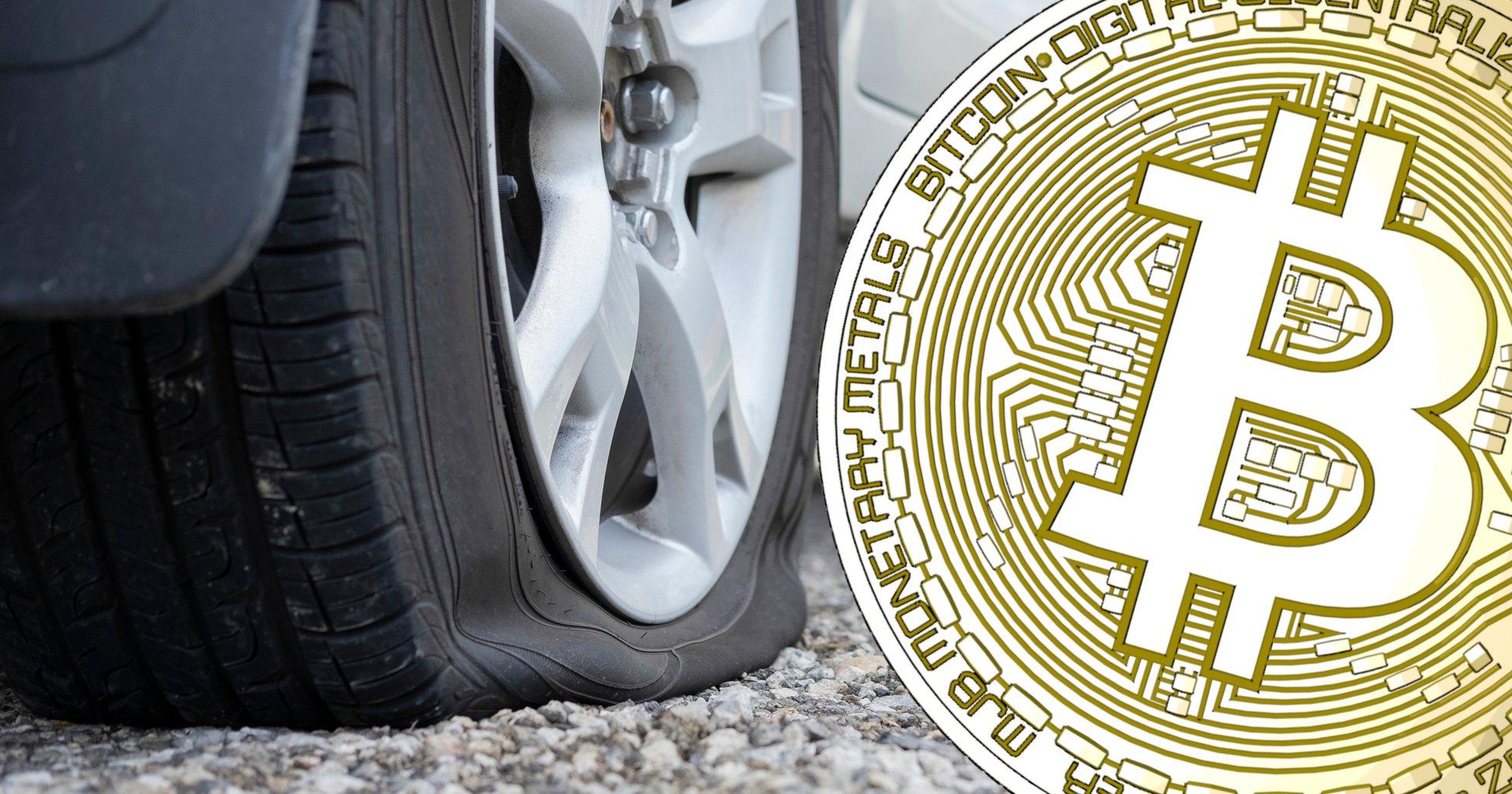 Luften ur för bitcoin – priset faller under 8 000 dollar.