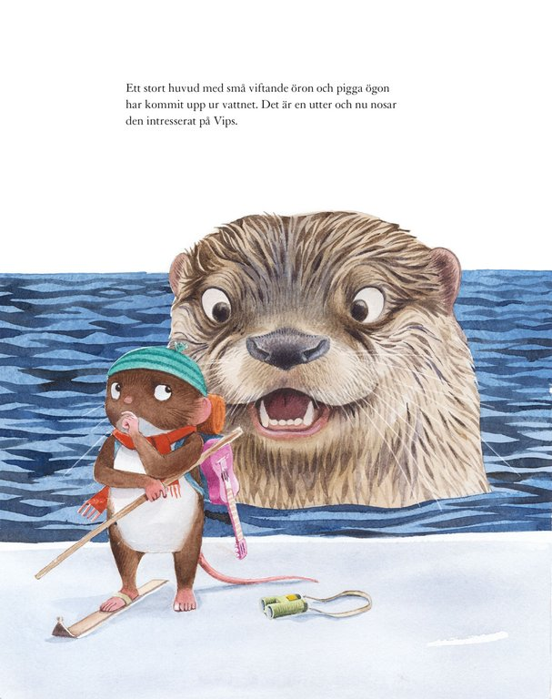 Illustration av Oskar Jansson, ur Vips på isen