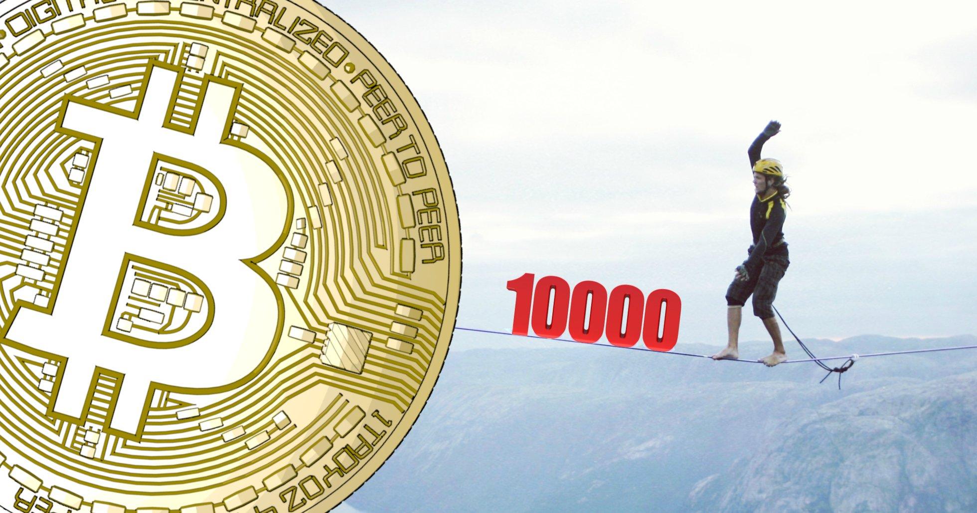 Bitcoin's dominance below 70 percent again – price balances around $10,000.