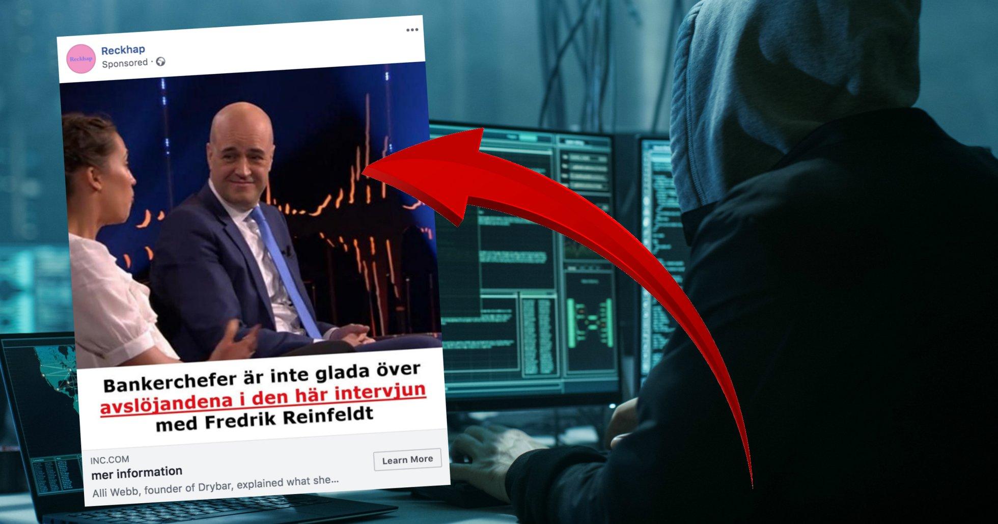 Fredrik Reinfeldt är nästa kändis att drabbas av Bitcoin Profit-bedrägeriet.