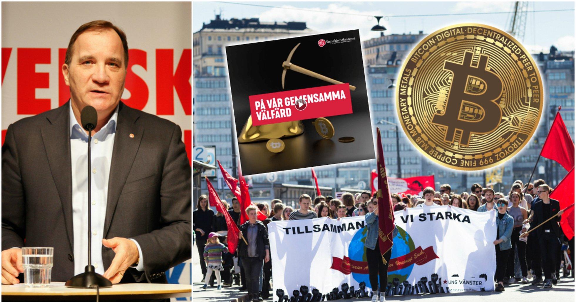 Socialdemokraterna använder bitcoin i sin valkampanj.