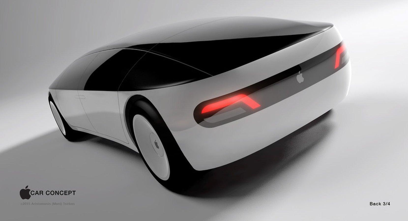 En av många idéer om hur en bil från Apple skulle kunna se ut.Den här designen från by Aristomenis Tsirbas vann Freelancer's Apple Car Concept contest 2015. Foto: Freelancer.com