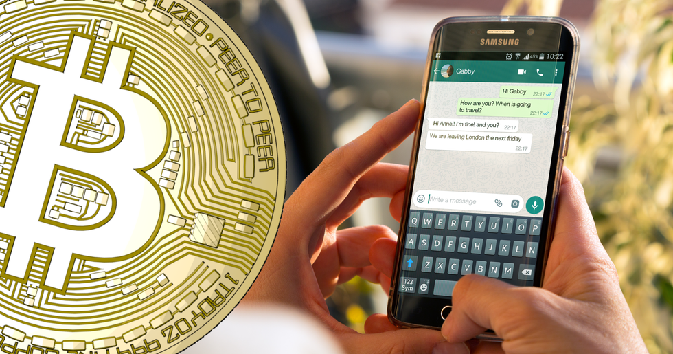 Now you can send and receive bitcoin on Whatsapp.