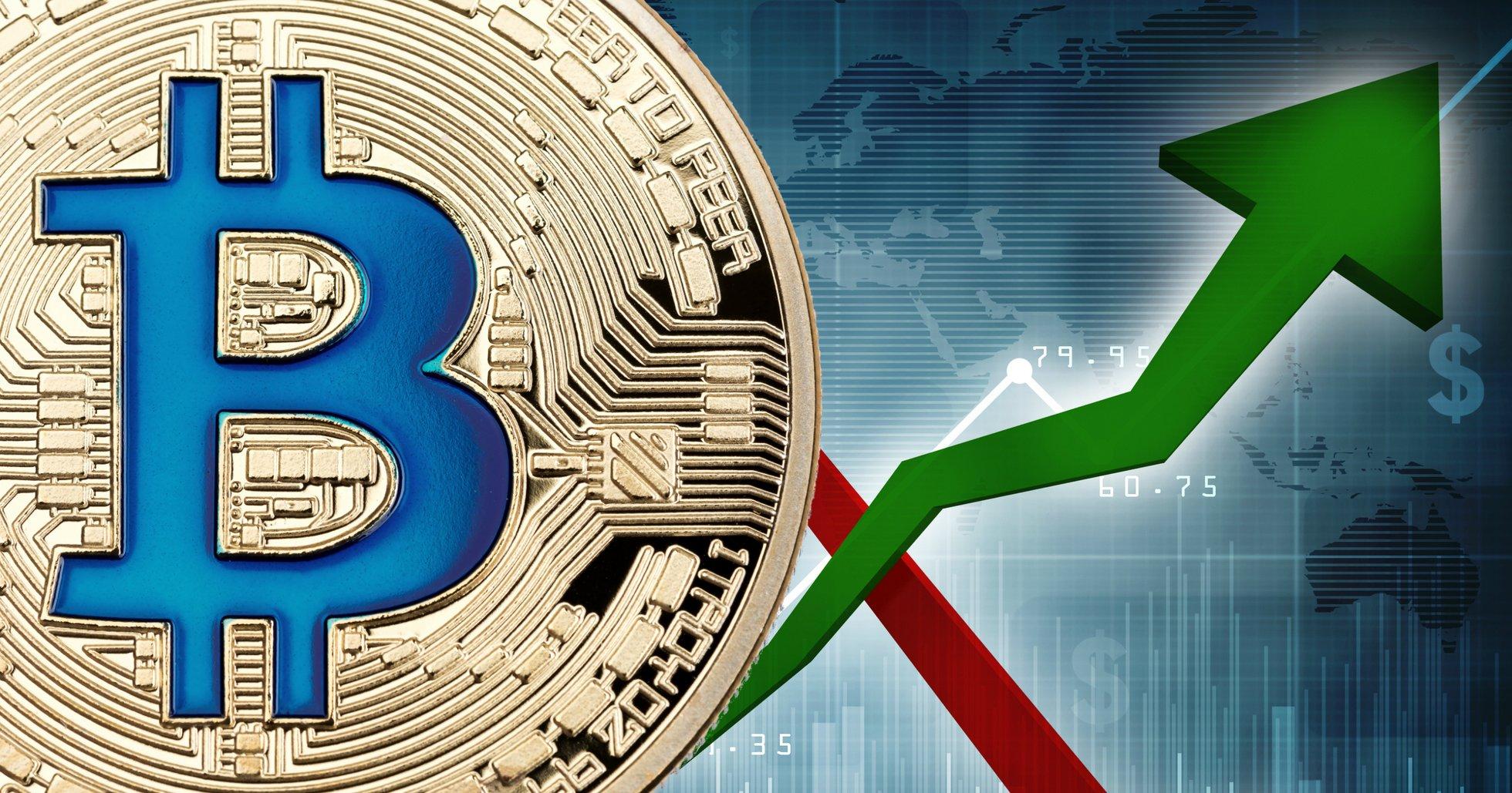 Bitcoinpriset ökar med över 400 dollar: