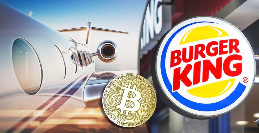 Nu kan du ta ett privatjet för att äta Burger King i Venezuela – och betala för allt med bitcoin