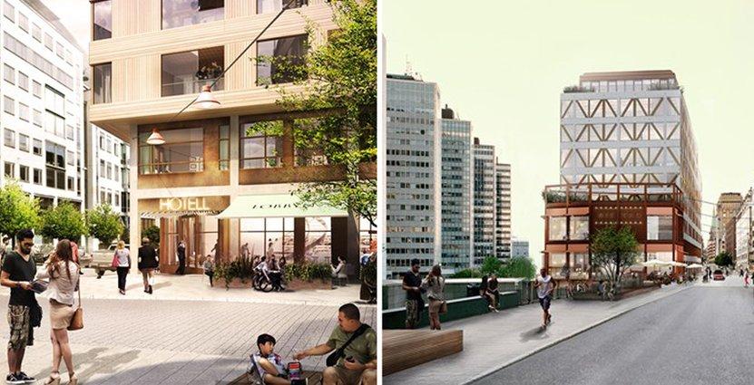 Så här kan det nya kvarteret runt Sergels Torg att komma se ut. Skiss från Marge arkitekter.