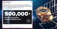 Jättefonden Grayscale äger nu 500 000 bitcoin – motsvarar över 70 miljarder