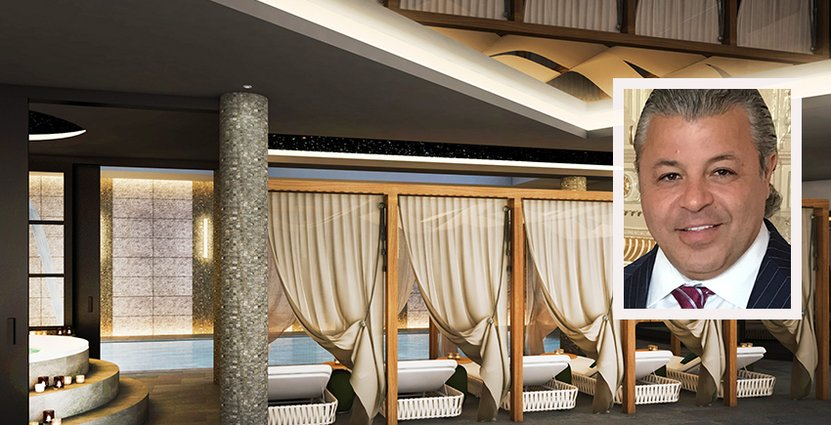 Hotellet har en 1 500 kvadratmeter stor spaavdelning.