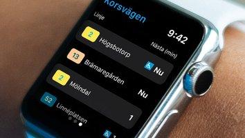 Nya funktioner i Västtrafiks app