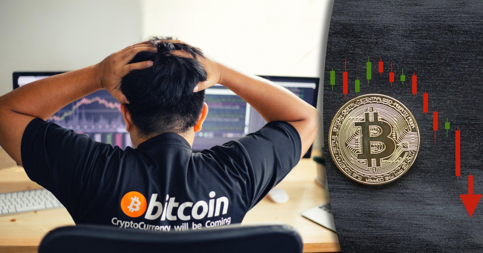 Investerare hoppades på tjurmarknad – då rasade bitcoinpriset med 7 procent